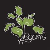 Vegan in style monoline. Vector Illustration Stock Photography