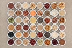 Vegan Superfood Collection Stock Images