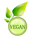 Vegan symbol isolated Stock Image