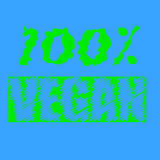 100% vegan text print. The weekend text print in stock illustration