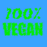 100% vegan text print. The weekend text print in royalty free illustration