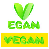 Vegan text sign Stock Images