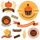 Vegan Thanksgiving Clipart Royalty Free Stock Photo