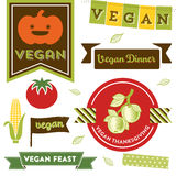 Vegan Thanksgiving Clipart Stock Image