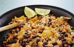 Vegan tofu scramble chilaquiles Royalty Free Stock Image