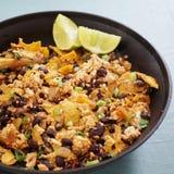 Vegan tofu scramble chilaquiles Stock Images