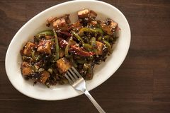 Vegan tofu stir fry. Is a healthy and delicious weeknight meal Stock Photos