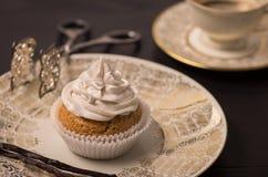 Vegan Vanilla Cupcake Stock Photo