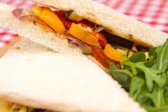 Vegan vegetable sandwiches Stock Images