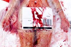 Vegan vegetarian bloody body protest Royalty Free Stock Photos