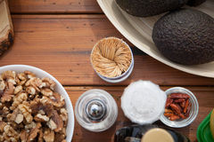 Vegan and vegetarian fruit, vegetables and nuts, Stock Images