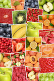 Vegan and vegetarian fruits background with apples, oranges, lem Stock Photography