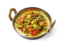 Vegan and vegetarian indian cuisine dish, spicy curry from tofu Stock Image
