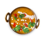 Vegan and vegetarian indian cuisine dish, spicy lentil dahl soup Royalty Free Stock Photos