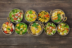 Vegan and vegetarian indian cuisine hot spicy dishes Royalty Free Stock Photos