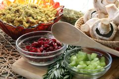 Vegan or Vegetarian Thanksgiving Side Dishes stock photos