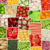 Vegan and vegetarian vegetables background with tomatoes, paprik Royalty Free Stock Photos