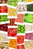 Vegan and vegetarian vegetables background with tomatoes, paprik Stock Photo