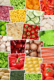 Vegan and vegetarian vegetables background with tomatoes, paprik Stock Image