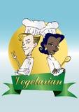 Vegan/vegetarische Serie Stockfoto