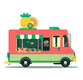 Vegan vitamin food. Fruit car illustration. Vegan vitamin food Royalty Free Stock Photos