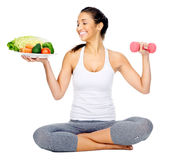 Vegan workout Stock Photos
