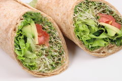 Vegan wraps special Royalty Free Stock Image