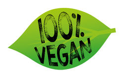100% veganist vector illustratie