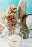 Veganist alternatieve non-dairy melk Stock Foto