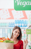 Veganist het winkelen Royalty-vrije Stock Fotografie