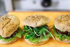 Veganistburgers Royalty-vrije Stock Afbeelding