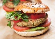 Veganisthamburger Royalty-vrije Stock Afbeelding