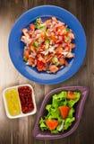 Veganistvoedsel Salade van groenten Royalty-vrije Stock Fotografie