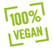 vegano 100% Stock de ilustración