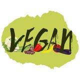 Vegano con las frutas Imagenes de archivo