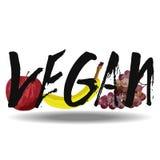Vegano con las frutas Fotografía de archivo