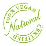 Vegano 100% del verde todo el icono natural Ilustración del Vector