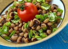 Vegano meridional Black Eyed Peas del estilo foto de archivo libre de regalías