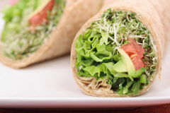 Vegans healthy wrap Stock Photo