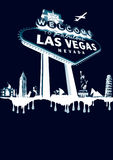 Vegas-bianco Fotografie Stock