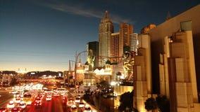 Vegas bij Nacht Stock Foto