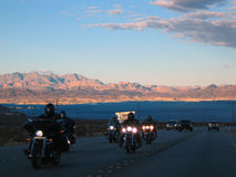 Vegas bikers Stock Photography