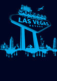 Vegas-blue Stock Image