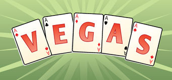Vegas cards Royalty Free Stock Photos