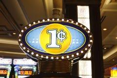 Vegas: De Gokautomaat van de stuiver Stock Foto's