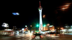 Vegas driving cars timelapse stock footage