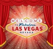 Vegas ha scoppiato la tenda rossa illustrazione vettoriale