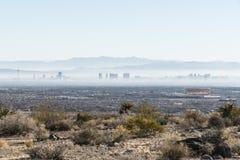 Vegas Haze. Las Vegas, Nevada, USA - November 28, 2014:  Haze filled morning in Nevada's Las Vegas Valley Royalty Free Stock Photography