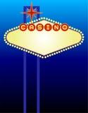 Vegas-Kasino-Zeichen Lizenzfreies Stockfoto