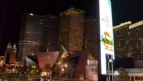 Vegas-Kristallnachtzeit-Streifenarie Stockfotografie
